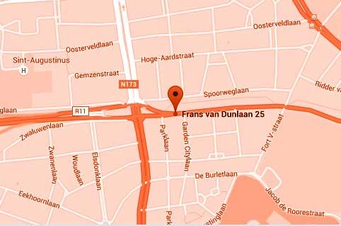 V-VH&P locatie op kaart